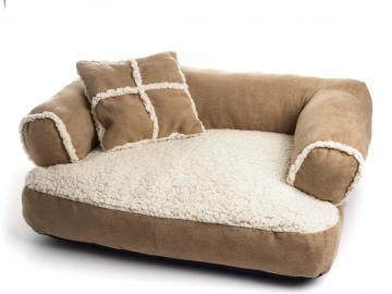 sofa abziehbar f r hund kissen beige korb 65 x 45 x h 25 cm ebay. Black Bedroom Furniture Sets. Home Design Ideas