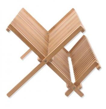 egouttoir vaisselle pliable en bambou bois s choir couverts 34 assiettes ebay. Black Bedroom Furniture Sets. Home Design Ideas