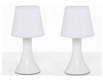 Lampe de chevet blanche x 2 for Lampe de chevet blanche