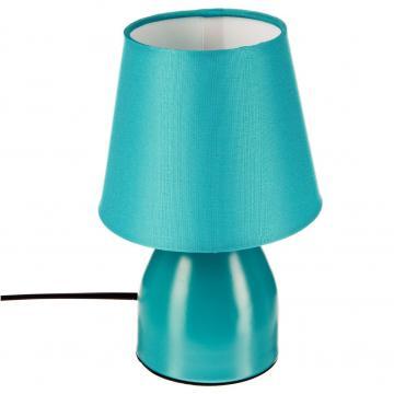 lampe de chevet pied en m tal bleu turquoise bureau luminaire 12 cm h 19 5 ebay. Black Bedroom Furniture Sets. Home Design Ideas