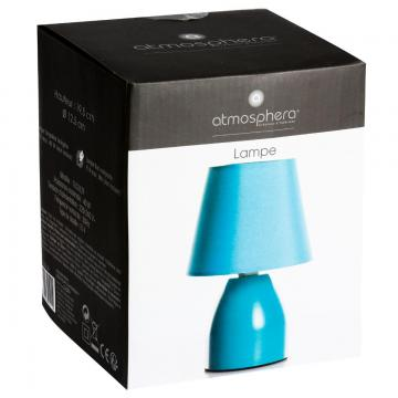 lampe de chevet pied en m tal turquoise. Black Bedroom Furniture Sets. Home Design Ideas