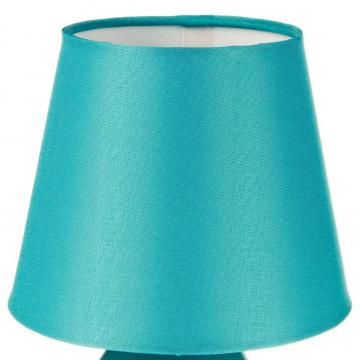 lampe de chevet pied en m tal bleu turquoise bureau luminaire 12 cm h 19 5 ebay. Black Bedroom Furniture Sets. Home Design Ideas
