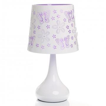 Lampe tactile papillon violet - Lampe de chevet violet ...