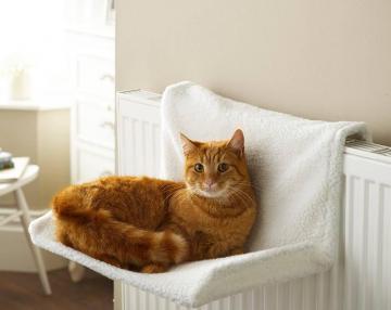 lit hamac de radiateur chauffage pour chat arbre couverture 39 39 style mouton 39 39 ebay. Black Bedroom Furniture Sets. Home Design Ideas