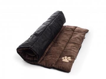 matelas enroulable pour chien 90 x 60 cm marron. Black Bedroom Furniture Sets. Home Design Ideas