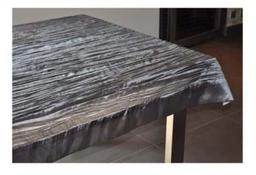 nappe froiss e carr e 150 x 150 cm grise polyester pour table ronde ou carr e ebay. Black Bedroom Furniture Sets. Home Design Ideas