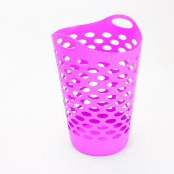 Panier linge rose plastique souple bac corbeille - Corbeille a linge plastique ...