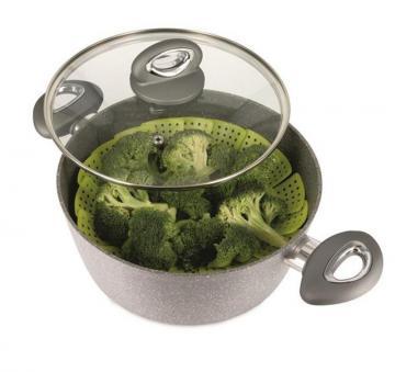 panier cuit vapeur r tractable cuisson cuiseur vapeur passoire de 16 26 cm ebay. Black Bedroom Furniture Sets. Home Design Ideas