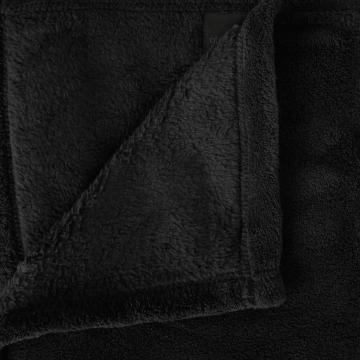 plaid polaire microfibre noir. Black Bedroom Furniture Sets. Home Design Ideas