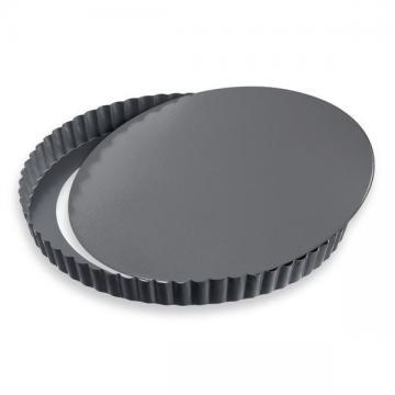 moule plat tarte avec fond amovible anti adh sif 25. Black Bedroom Furniture Sets. Home Design Ideas