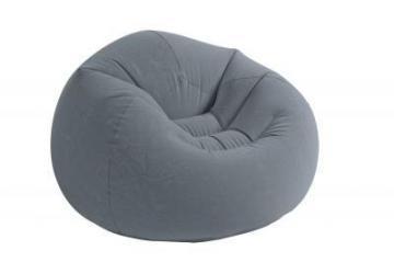 pouf g ant gris intex effet velours frais de port offert. Black Bedroom Furniture Sets. Home Design Ideas