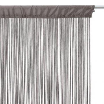 rideau fil gris 185 x 85 cm. Black Bedroom Furniture Sets. Home Design Ideas
