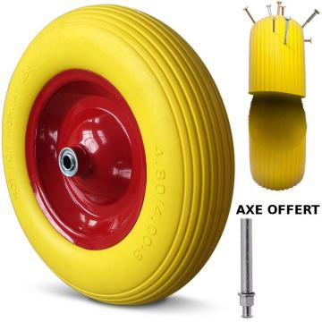 Roue-de-Brouette-Increvable-4.80/4.00-8-260Kg-Axe-Ø-16mm