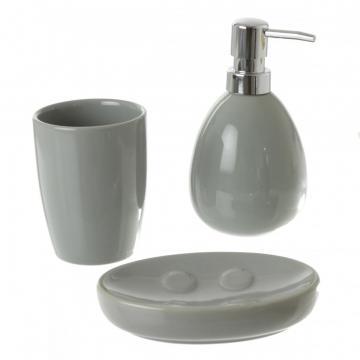 set de salle de bain c ramique gris. Black Bedroom Furniture Sets. Home Design Ideas