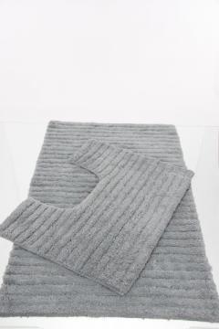 tapis salle de bain contour wc gris. Black Bedroom Furniture Sets. Home Design Ideas
