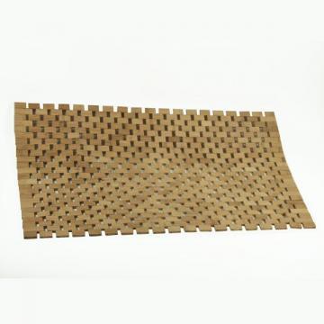 Tapis salle de bain en bambou for Tapis salle de bain en bois