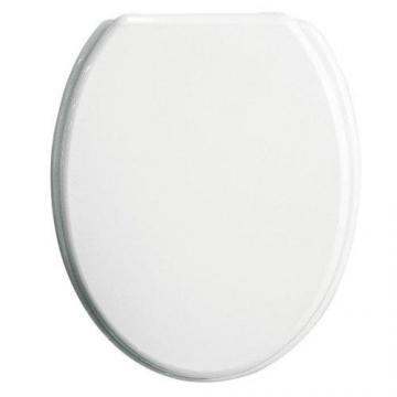 abattant wc en bois mdf blanc lunette toilette cuvette couvercle fixations ebay. Black Bedroom Furniture Sets. Home Design Ideas