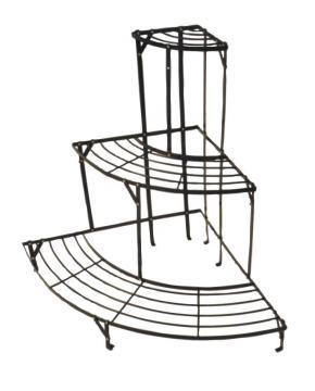 etagere d 39 angle m tal porte plantes metal plante serre veranda fleurs pot semis ebay. Black Bedroom Furniture Sets. Home Design Ideas