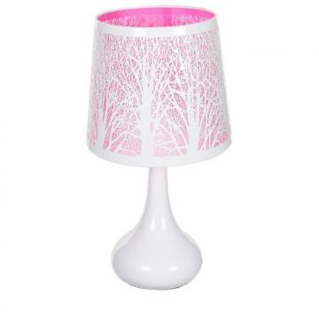 lampe tactile arbre rose abat jour et pied m tal chevet touch 3 intensit s ebay. Black Bedroom Furniture Sets. Home Design Ideas