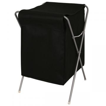 panier linge pliable corbeille bac sac tissu noir structure m tal ebay. Black Bedroom Furniture Sets. Home Design Ideas