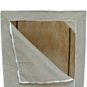 penderie armoire en toile non tiss e grise structure en m tal promo ebay. Black Bedroom Furniture Sets. Home Design Ideas