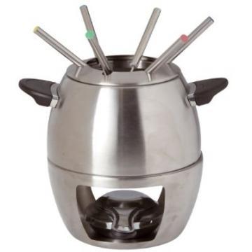 service 224 fondue en acier inoxydable pour 6 personnes caquelon fourchettes ebay